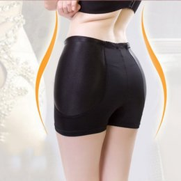Wholesale Hip Pad Underwear Plus Sizes - Wholesale- Women High Waist Padded Butt Hip Enhancer Panties Shaper Underwear Plus Size