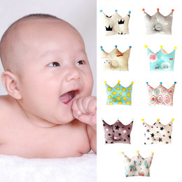 Wholesale Newborn Flat Head - Nordic Style soft Baby Forming Pillow Cotton Pillow Prevent Flat Head Baby Cute Crown Shape Pillow Newborn Boy Girl Sleeping Bedding