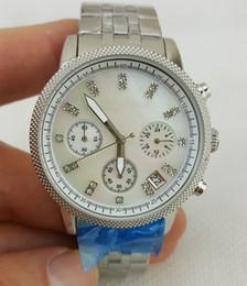Wholesale Diamond Male Watch - with original box watch luxury brand man lady 5020 clocks male whole steel stop watches diamond mark