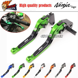 Wholesale Ninja Lever - fits for KAWASAKI NINJA 250 300 2013-2015 Motorcycle Accessories Adjustable Folding Extendable Brake Clutch Levers