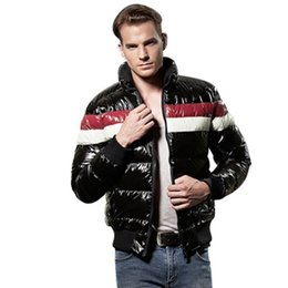 Wholesale Shiny Jackets Men - Wholesale- NXH Winter Jacket New Plus Size 2017 Fashion Down With Black Brand Warm Outwear Parkas Short Clothing Parka Shiny Down Jackets