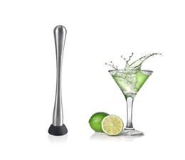 Wholesale Metal Lemon - Stainless steel cocktail popsicle lemon Bar muddler swizzle stick crush