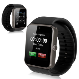 Wholesale Best Quality Wrist Watch - Best Quality Bluetooth Smart Watch GT08 For Android IOS iPhone Wrist Wear Support Sync SIM TF Card Camera Pedometer Sleep Monitoring