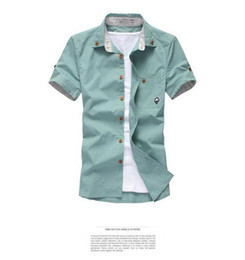 Wholesale Boutique Free - 2016 free shipping new men's spring and summer short-sleeved shirt men short sleeve shirt men's fashion boutique 10 color