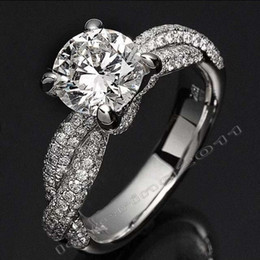 2019 joyas de dinosaurio de oro Victoria Wieck Luxury Jewelry garra de dinosaurio Set 3ct Diamonique CZ Diamond 14KT oro blanco llena de anillos de boda para mujeres Tamaño 5-11 joyas de dinosaurio de oro baratos