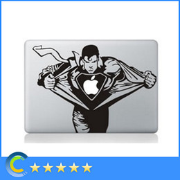 Wholesale 15 Inch Laptop Skin Stickers - Laptop Stickers Superman Personality Vinyl Decals for New Macbook 12 retina macbook Air Pro Retina 11 13 15 Inch stickers laptop skin