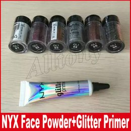 Wholesale Full Cream Powder - NYX Glitter Primer Cream Concealer Cream NYX Glitter Face and Body Shimmer Powder 6 color Eyeshadow Powder 25G