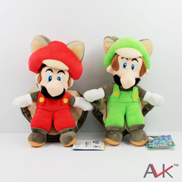 Wholesale Mario Squirrel Plush - Free Shipping EMS New Super Mario Plush Doll Toy : 9-inch Squirrel   Musasabi Mario & Luigi SET