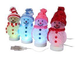 Wholesale Bear Led Night Lamp - LED Night Light Lamp Santa Claus Snowman Deer Bear Xmas Ornaments Party Supplies Christmas Decorations For Home