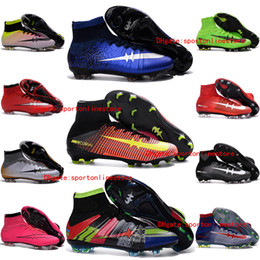 Wholesale Cheap Ronaldo Football Boots - Cheap New Mens Football Soccer Shoes Mercurial Superfly V FG Soccer Cleats CR7 ronaldo High Ankle Football Boots Superflys Soccer Boots 2016