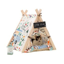 Wholesale Love Dog Cloth - Wholesale-Free Love@square flower print design Pet Kennels Pet Play House Dog Play Tent Cat  Dog Bed