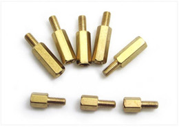 Wholesale Post Bolts - The M4 copper single head screw six pillars six corner pillars corner posts free shipping!