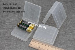 Wholesale Translucent Boxes Shipping - free shipping USA Translucent Hard Plastic Case Holder Storage Box for 4pcs AA batteries AA battery cover case bins Home Organization cheap