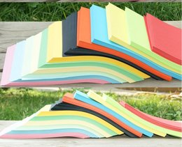 Wholesale Print Colored Paper - Wholesale- 70gsm A4 21*29.7cm 10 colorful printing paper handmade paper origami handmade colored paper children handmade origami
