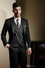 Wholesale Men S Vest Pants - Wholesale - 2017 Custom Made Groom suit Formal suit Wedding suit for men Groomsman Jacket+Pants+Vest classic fit Bridegroom S