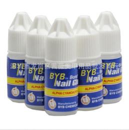 Wholesale Byb Glue - Wholesale-2016 Capacity 3G*100pcs BYB bond clear Nail Glue + free shipping