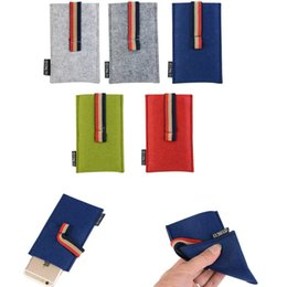 Wholesale Cloth Pouch Mobile - Fashion Felt cloth Universal Ribbon Mobile Phone Bags for iphone5 6 plus Samsung s7 edge Huwei Sony Moto HTC