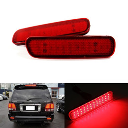 Wholesale Toyota Fog - 36 LED Car Styling Red Rear Bumper Reflector Light Fog Parking Stop Brake Light Tail Lamp for Lexus LX470 Toyota Land Cruiser