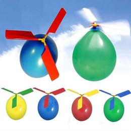 2019 décorations de mariage violet foncé Le ballon volant hélice avion ballons bricolage ballons l'hélicoptère ballon enfants jouets ballon avion amusement jouet