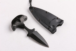 Wholesale Knife Hand Guards - Newer Defensive guard necklace hand stab Camping hunting wild gift knife free shipping 1 pcs