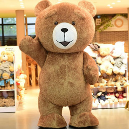 Wholesale Shop Mascot Costumes - High Quality Big Fat Teddy Bear Cartoon Mascot Costume Toy Shop Promotion Suit Halloween Party Fancy Dress Free Shipping