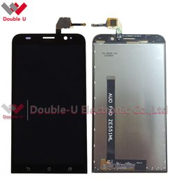 Wholesale Touch Screen Digitizer For Asus - 2pcs lot Replacement For Asus Zenfone 2 ZE551ML full LCD Display Touch Screen Glass Digitizer Assembly Black with Free Shipping