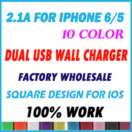 Wholesale Usb 3a - Wholesale 2A+1A=3A EU US Plug Dual Ports USB Travel Charging AC Wall Charger Adapter For iPhone Samsung Galaxy HTC LG 100pcs lot