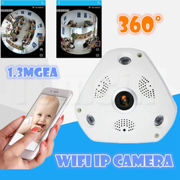 Wholesale Professional Cctv Cameras - Best selling Video Camera VR 1.3MP 1280*960 WiFi 360 Degrees Panoramic Fisheye IP Camera Night Vision Professional CCTV Cameras