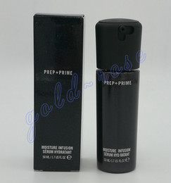 Wholesale Faces Glasses - High quality! NEW Face Prep + Prime Moisture Infusion Serum Hydratant Primer 50ml Foundation Glass bottles DHL Free shipping+GIFT
