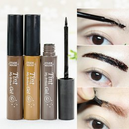 Wholesale Makeup Tattoo Color - Long Lasting Natural Peel off Eyebrow Tint Gel of My Brows gel Tint Tattoo Makeup Dye Color Eyebrow Cream
