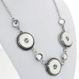 Wholesale One Direction Pendants - Wholesale- Vintage 3 buttons 18mm snap button necklaces woman bohemian necklaces & pendants Beads Women's neck one direction