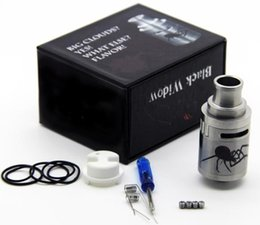 Wholesale Widow Top - Vaporizer Black Widow RDA Rebuildable Dripping Atomizer Ceramic Deck Adjustable Top Airflow Control Fit 510 E Cigarette DHL Free ATB470