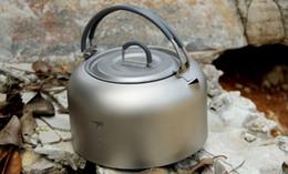 Wholesale Titanium Camp Pot - Wholesale-Keith KA101 Ultralight Titanium Kettle Camping Titanium Teapot Camping Water Pot 1L KA101