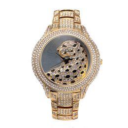 Wholesale Diamond Top - Casual Ladies Watches Quartz Waterproof Top Luxury Brand Women's Wrist Watch Diamonds Tiger For Famous clock women