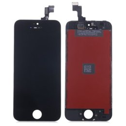 Wholesale Iphone 5g Screen Digitizer - AAA Quality 2017 New LCD Lens Screen+Touch Digitizer Assembly W Frame For iPhone 5C 5S 5G lcd display Black+ white(new longteng )