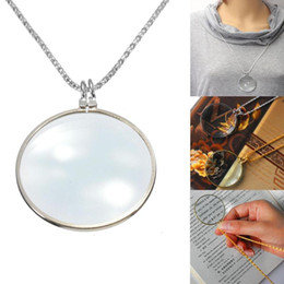 Wholesale Magnifying Glass Gold - 5Pcs Lot Mix Lot Women Fashion Jewelry Decorative Monocle Necklace Metal Accesories Magnifier Magnifying Glass Pendant