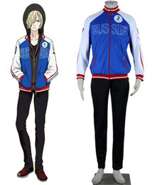Wholesale Ice Man Costume - YURI!!! on ICE Yuri Plisetsky cosplay costumes halloween cosumes