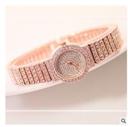 Wholesale Bling Buckle Bracelet - Hot Sale Famous Brand Women Diamond Rose Gold Bracelet Watch Lady Luxury Dress Jewelry Watch Rhinestone Bling Crystal Bangle FA1101