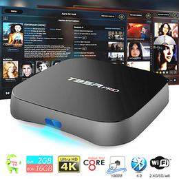 Wholesale Ac Eu - Genuine Android 7.1 S912 TV Box T95R pro 2gb 16gb Gigabit Ethernet 5G AC WiFi BT4.0 3D Octa Core 4K TV Boxes fully loaded