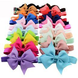 Wholesale Fashion Elastic Hair Bands - 2016 New Baby Girl Ribbons Bow Headbands Christmas Fashion Elastic Hair bands Baby Accessories E568
