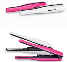 Wholesale Mini Ceramic Iron Hair Straightener - Quality Guarentee!! USB Power Hair Straightener Cordless Hair Straightener Mini Rechargeable USB Straightener Travel Seramic Flat Iron & Bag