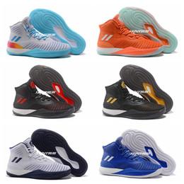 Wholesale Flame Fabrics - Hot D Rose Baketball Shoes Men Boots 8 IX Blue Christmas Sneakers Derrick Rose Flame Sports Brand Basket Ball Shoe Black Gold Trainer