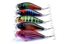 Wholesale ps laser - Bright Color PS Painted Laser Crank bait Rattlin lure 6.5cm 8.3g Freshwater Fishing crap simulation Fish hooks