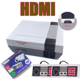 Wholesale Fc Game Console - HD HDMI Mini Retro Video Game Player Classic TV Video Handheld Game Console Built-in 600 Classic Games For NES HDMI Game 2017