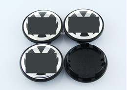 Wholesale Volkswagen Car Stickers - 4pcs Set Volkswagen Car Wheel Accessories Black Blue 56mm 65mm 70mm 76mm VW Car Wheel Center Hup Cap Emblem Logo Decals Stickers