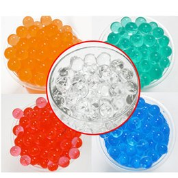 Wholesale Gel Beads For Flowers - Hydrogel Balls Growing Water Balls Pearl Shape Water Beads Crystal Gel Aqua Jelly Beads Grow Crystal Soil For Flower Home Decor OTH059