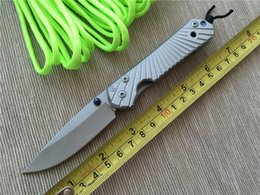 Wholesale Wholesale Stone Edging - Camping Knife Chris Reeve Folding D2 Blade Sebenza 21 Style Stone Wash Edge Handle Survival Knife Outdoor Gear 4L