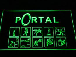 Wholesale Neon Sign Game - e068 Portal Game Logo LED Neon Light Sign sign china light need sign memo