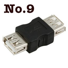 Wholesale Gender Changer Adapter - Wholesale-Wholesale 100pcs lot Good quality USB A Female to A Female Gender Changer USB 2.0 Adapter free shipping