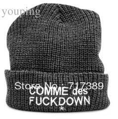 Wholesale Wool Comme Des Fuckdown Beanie - Wholesale-2015 New Style, Free Shipping, Comme des fuckdown beanies hat, wool beanie, winter hat, crochet hat